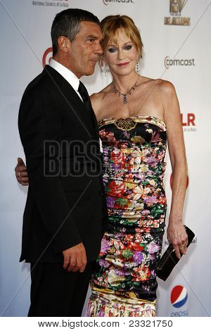 LOS ANGELES - SEP 10:  Melanie Griffith; Antonio Banderas arriving at the 2011 NCLR ALMA Awards held at Santa Monica Civic Auditorium on September 10, 2011 in Santa Monica, CA