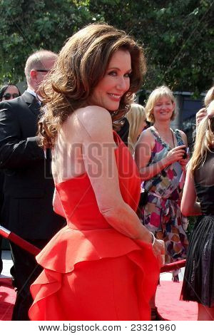 LOS ANGELES - SEP 10:  Mary McDonnell arriving at the Creative Arts Emmys 2011 at Nokia Theater  on September 10, 2011 in Los Angeles, CA