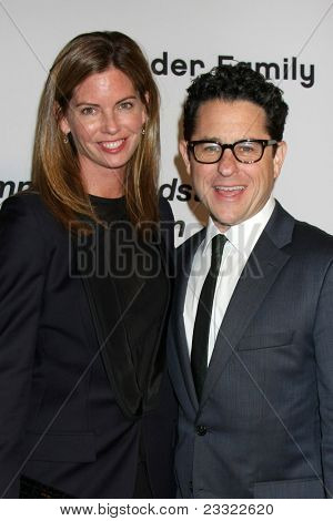 LOS ANGELES - SEP 10:  JJ Abrams & Wife arriving at the 2011 Pink Party at Drai's - W Hollywood on September 10, 2011 in Los Angeles, CA