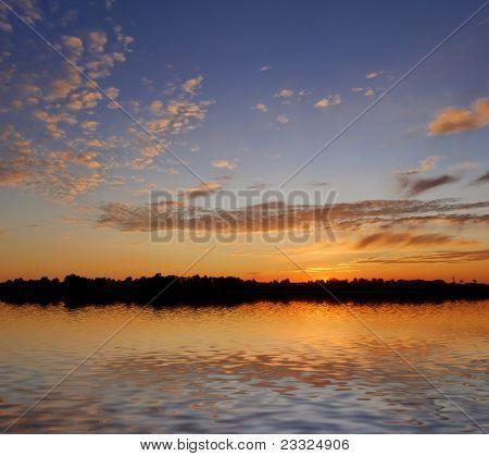 Sunset Over Big Lake
