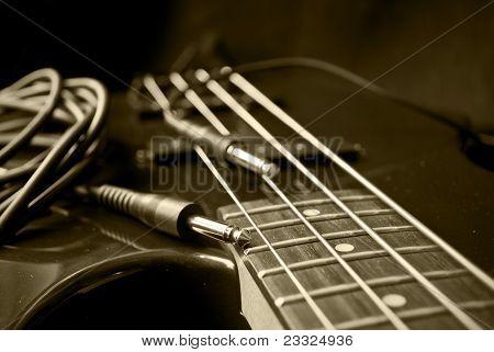 Sepia Musical Still Life