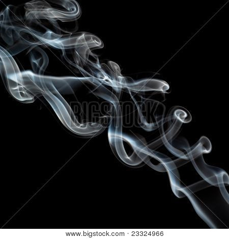 Twisting Smoke On Black
