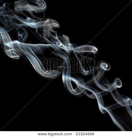 Twisting Smoke On Black