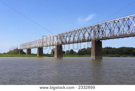 The Bridge Through The River Irtysh