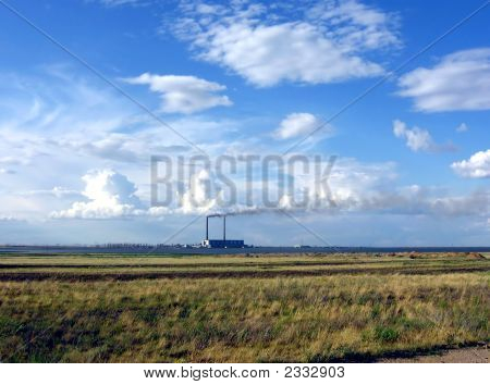 Ekibastuzskaja A State District Power Station Clear Day