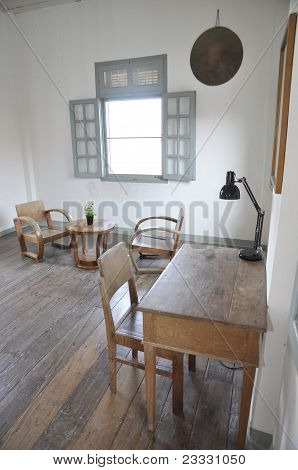 Wood Chair Table Set Room White