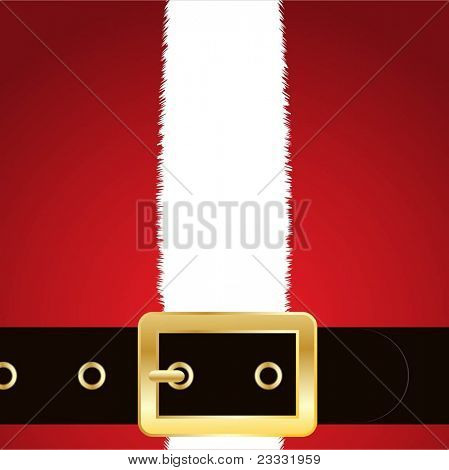 Christmas background of Santa's coat and belt