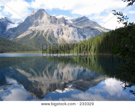 The Vice President And Reflection On Emerald Lake - Yoho National Park, British Columbia, Canada
