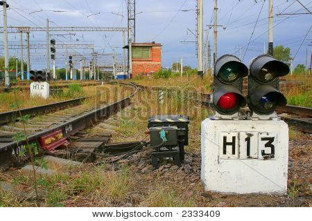Traffic Light №13 On Railway