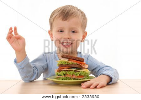 Boy And Big Sandwich