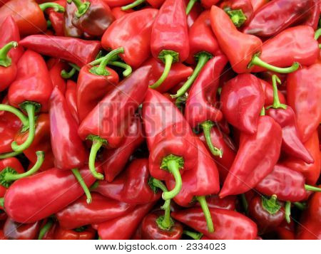 Pile Of Red Peppers