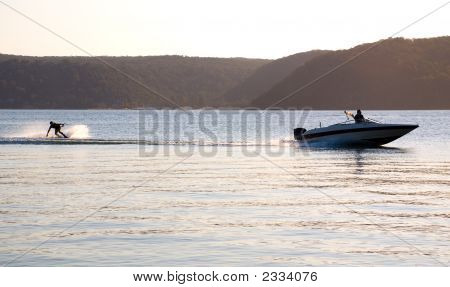 Sunset Waterski Speed Boat