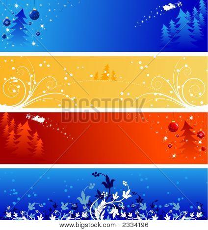 Winter Christmas Banners