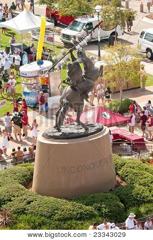 Florida State University's Unconquered Sculpture Of Chief Osceola And Renegade
