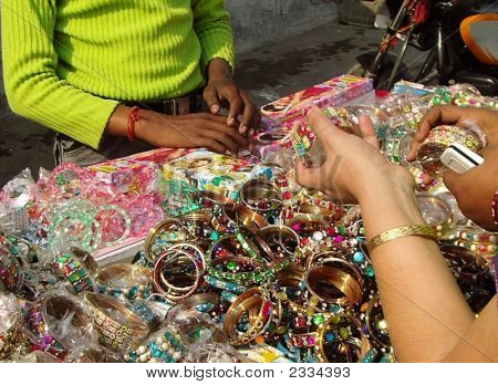 Indian Girls Buying Churi