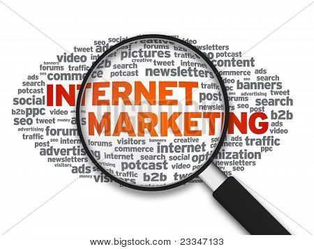 Magnifying Glass -  Internet Marketing
