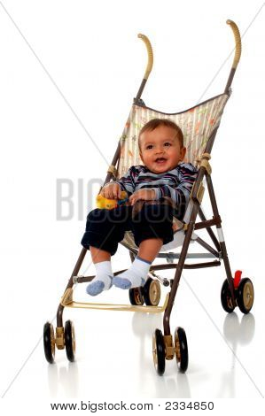 Baby In His Stroller
