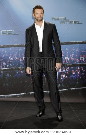 MUNICH - SEPT 12: Hugh Jackman at the Real Steel photocall at Hotel Bayerischer Hof on September 12, 2011 in Munich, Germany