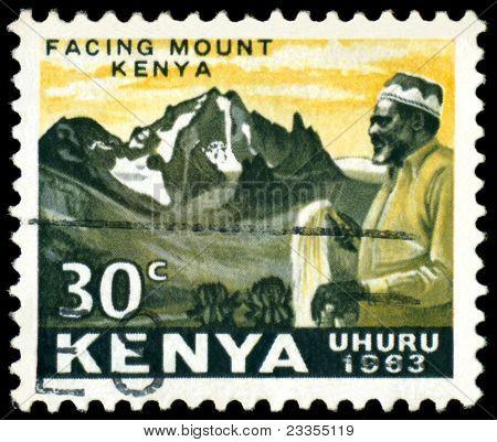 Vintage Postage Stamp. Jomo Kenyatta.
