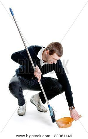 Sweeping Man