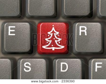 Key With Christmas Tree