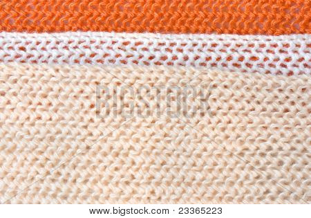 Knitted Tricolor Background