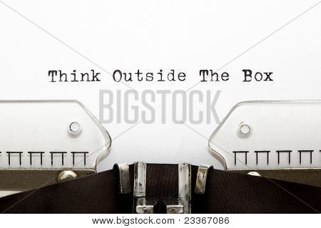 Máquina de escribir Think Outside The Box