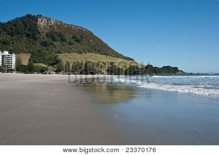 Mount maunganui, coastal New Zealand.