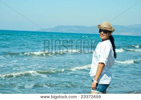 Lächelnd auf See