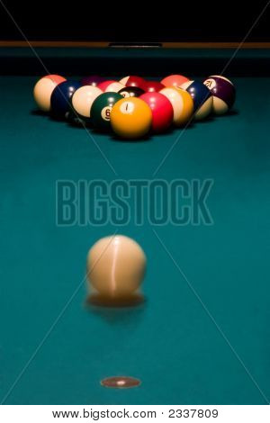 Breaking Racked Pool Balls
