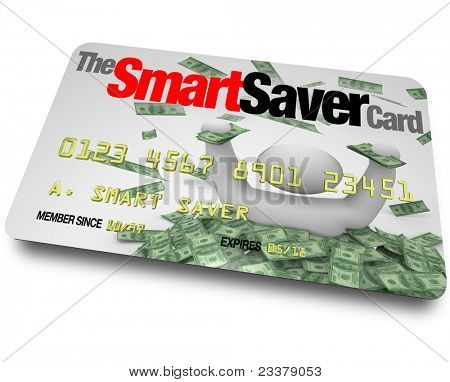 A credit card with the words Smart Saver Card which entitles you to great savings, discounts and cheap prices on merchandise you want