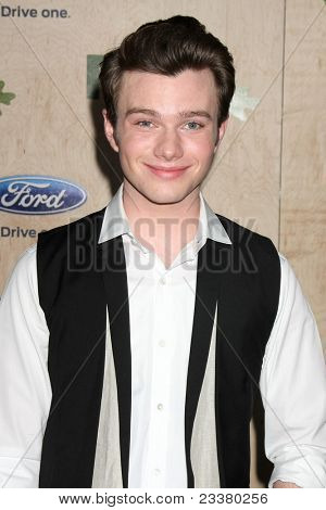 LOS ANGELES - SEP 12:  Chris Colfer arriving at the 7th Annual Fox Fall Eco-Casino Party at The Bookbindery on September 12, 2011 in Culver City, CA