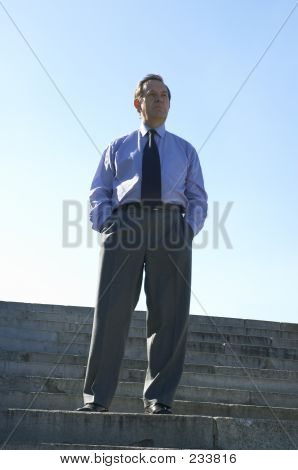 Businessman Outside
