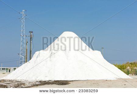 salt, saline in Troncalhada, Beira, Portugal