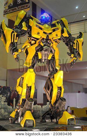 KUALA LUMPUR, MALAYSIA - DEC 3: Replica of Bumblebee from Transformers were displayed at Kuala Lumpu