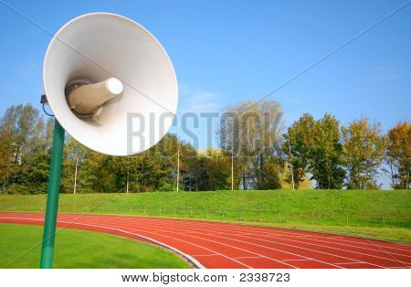 Racetrack For Runners, With Speaker