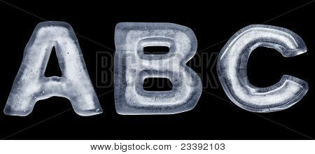 Ice Letter A B C