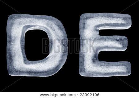 Ice Letter D E