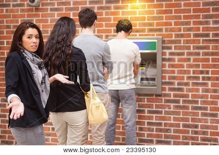 Impatient Woman Queuing