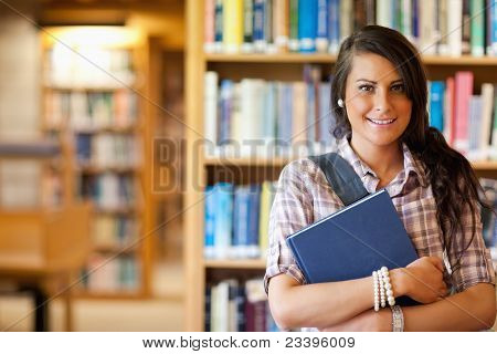 Portrait Of A Student Posing With A Book