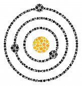 Solar System Collage Of Circle Dots In Different Sizes And Color Tinges. Dots Are Grouped Into Solar poster
