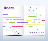 Modern Vector Template For Brochure, Leaflet Flyer, Advert, Cover, Catalog, Magazine Or Annual Repor poster