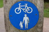 Cycle And Pedestrian Sign poster