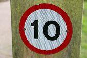 10 Mph Warning Sign poster