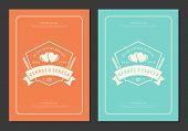 Wedding Save The Date Invitation Card Vector Illustration. Wedding Invite Title Vintage Design. poster