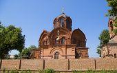Постер, плакат: Православная Церковь изготовлены из красного Adobe названный Архангел Михаил