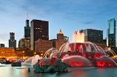 image of fountains  - Buckingham Fountain in Grant Park - JPG