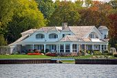 luxury lakefront home