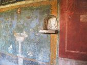 Beautiful Mural On Pompei Wall