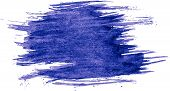 Blue Watercolor Texture Paint Stain Brush Stroke Abstract Background Design Illustration Acrylic Str poster